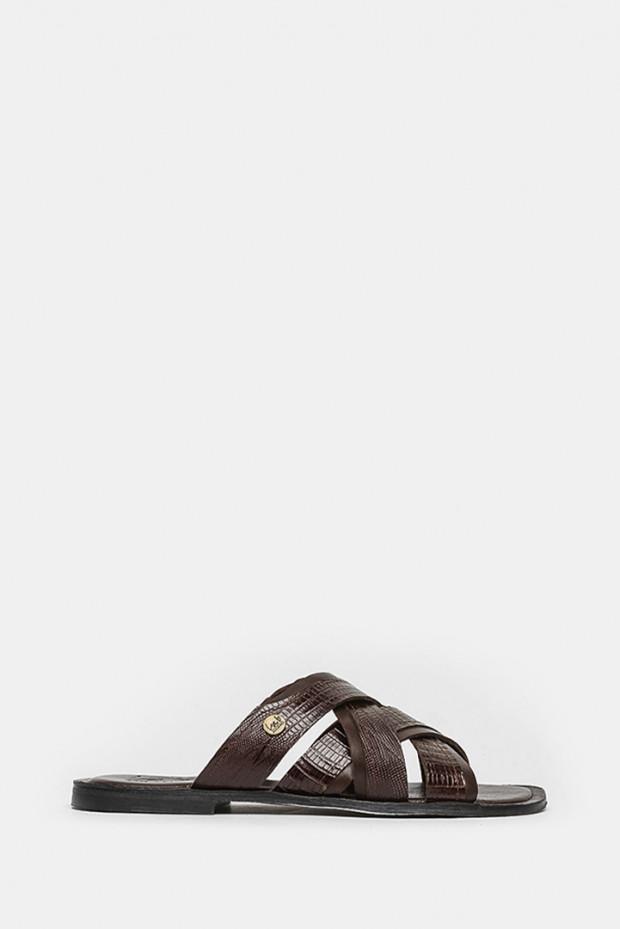 Шлепанцы LAB Milano коричневые - 6570_m