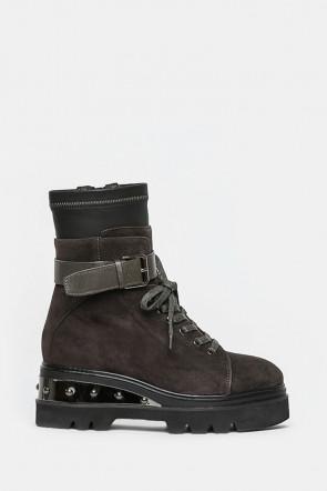 Ботинки Gianni Renzi серые - 1061