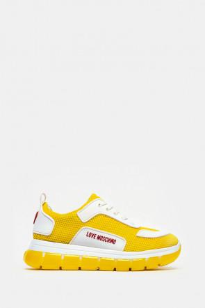 Кроссовки Love Moschino желтые - 15155y