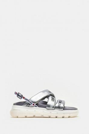 Босоножки Love Moschino серебро - 16295