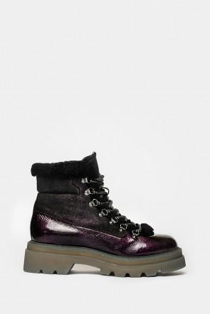 Ботинки Voile Blanche темно-бордовые - 1842n
