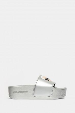 Шлепанцы Karl Lagerfeld серебро - 80805ag
