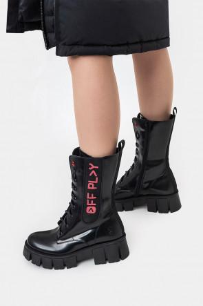 Женские ботинки Off Play черные - BKRn