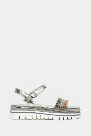 Босоножки Pasquini серебро - 2055p
