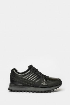 Кроссовки Giampiero Nicola черные - 39366n
