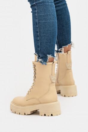 Женские ботинки Via del Garda молочные - 415201b