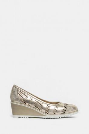 Туфли Mot Cle золотые - 7280_g