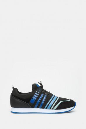 Кроссовки Trussardi черные, синие - 77153_bl