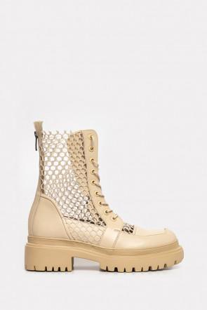 Ботинки Genuin Vivier бежевые - 77310b