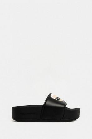 Шлепанцы Karl Lagerfeld черные - 80805n