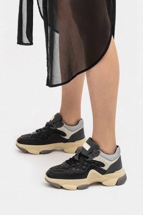 Женские кроссовки Furla черные - 84799