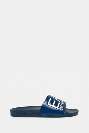 Шлепанцы EA7 Emporio Armani синие - AJ001bl