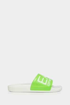 Шлепанцы Emporio Armani зеленые - AJ001gr