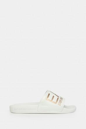 Шлепанцы Emporio Armani белые - AJ001ww