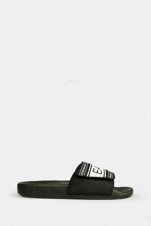 Шлепанцы Emporio Armani черные - AJ005n