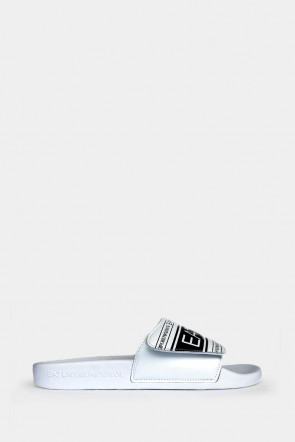 Шлепанцы Emporio Armani белые - AJ005w