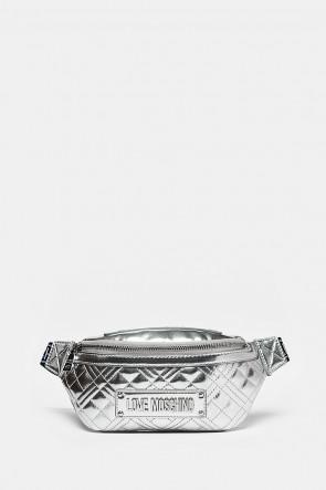 Сумка Love Moschino поясная серебро - 4206arg