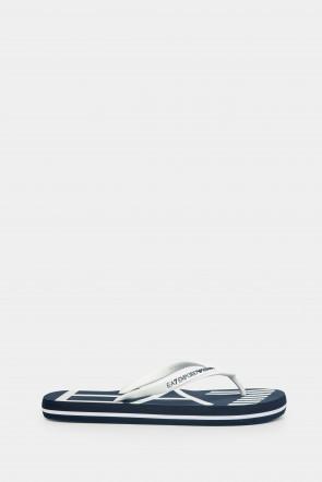Шлепанцы Emporio Armani синие - AJ004ss