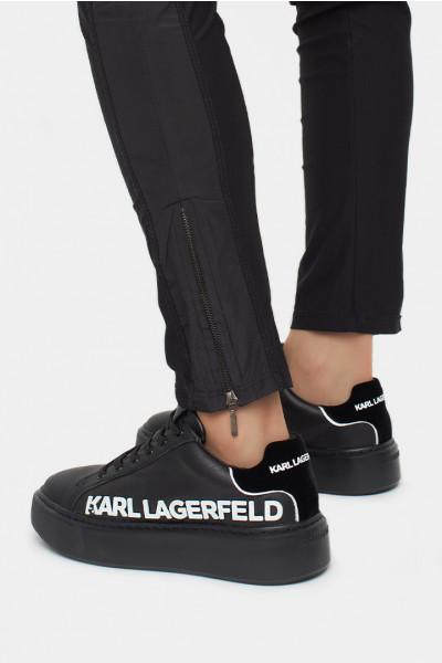 Женские слипоны Karl Lagerfeld черные - KL62210n
