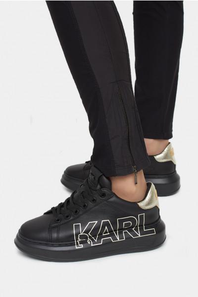 Женские слипоны Karl Lagerfeld черные - KL62511n