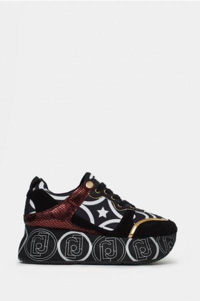 Женские кроссовки Liu Jo черные - LJ1041n