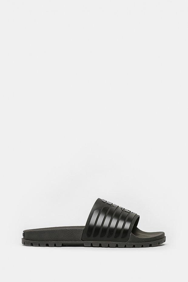 Шльопанці Armani Jeans чорні - 4077