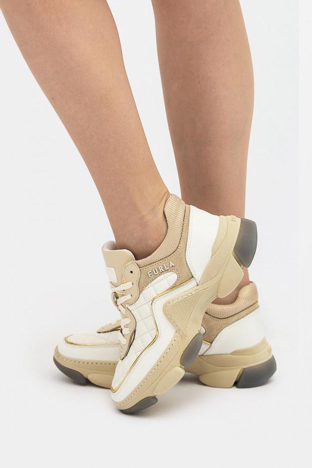 Жіночі кросівки Furla білі - 84796