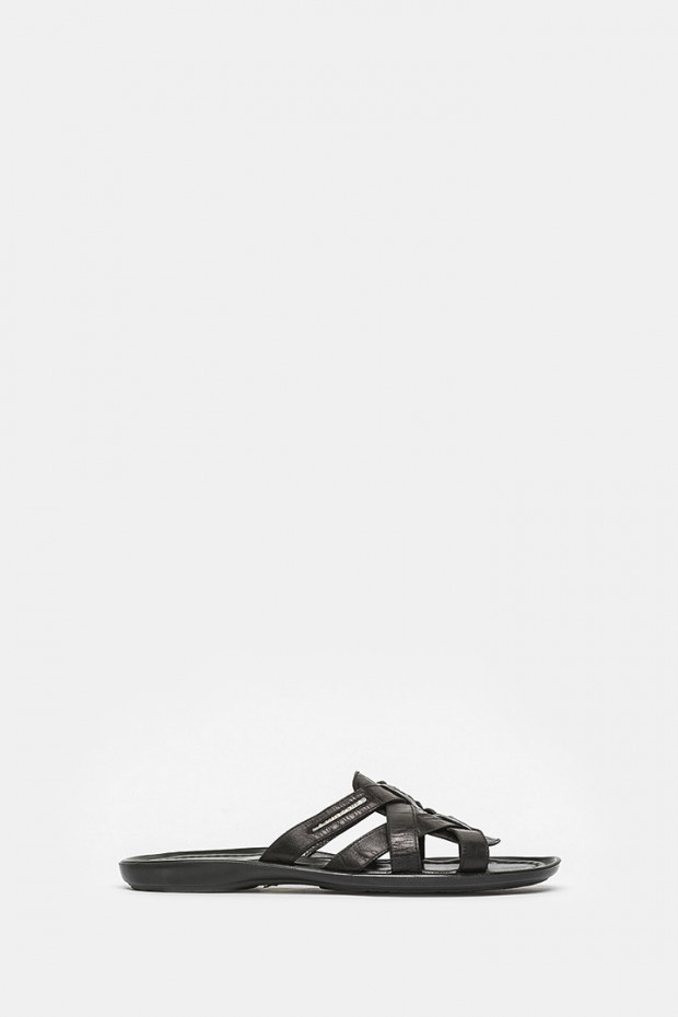 Шльопанці Luca Guerrini чорні - 5797
