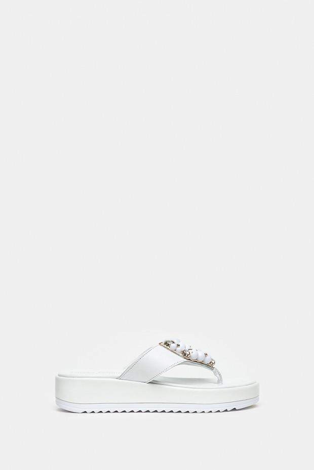 Шльопанці Pasquini білі - 2155_w