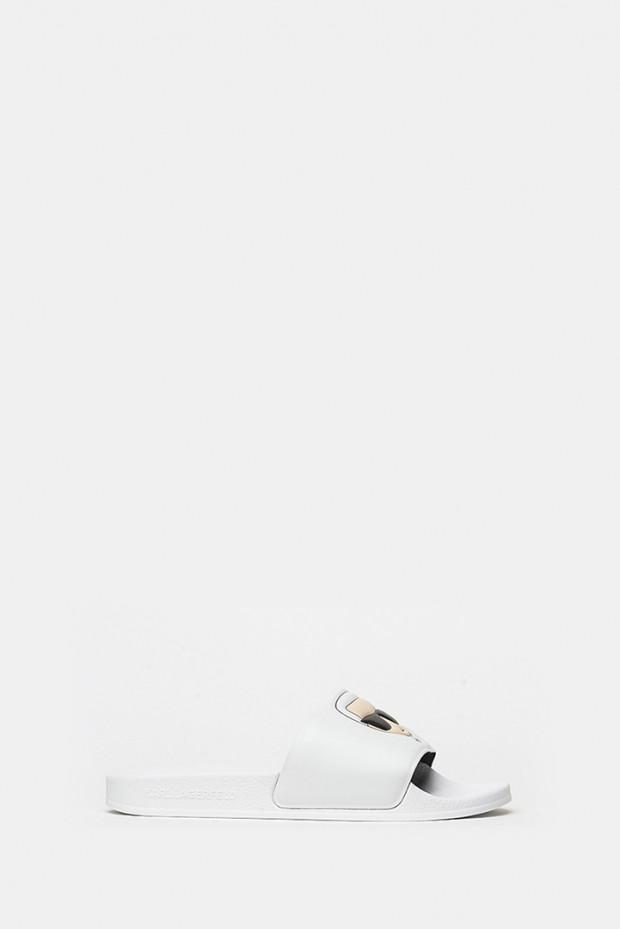 Шльопанці Karl Lagerfeld білі - 80905