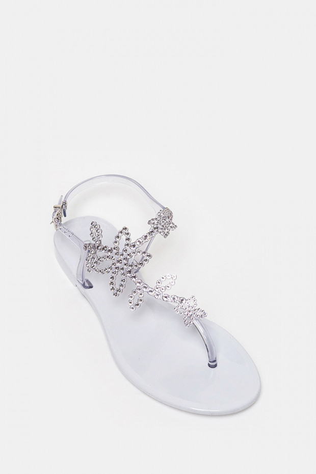 Босоніжки Menghi срібло - 708mA