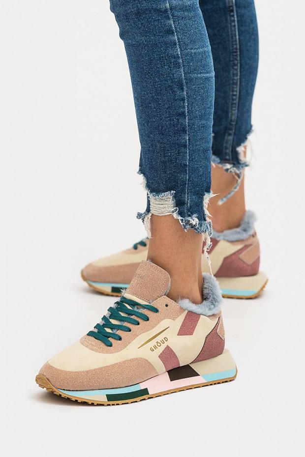 Жіночі кросівки Ghoud бежеві - GHx37