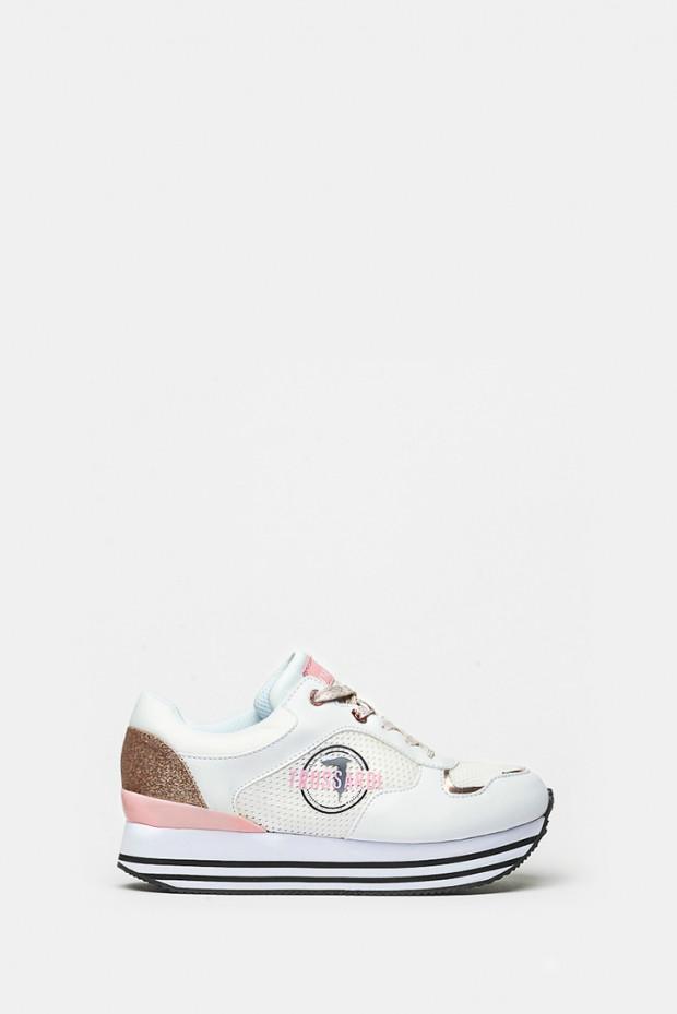 Кросівки Trussardi білі - 79472w